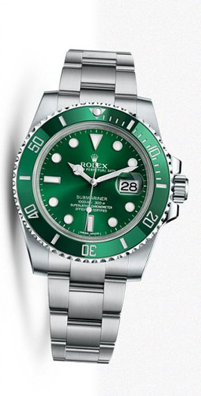 Rolex Submariner green dial green bezel steel