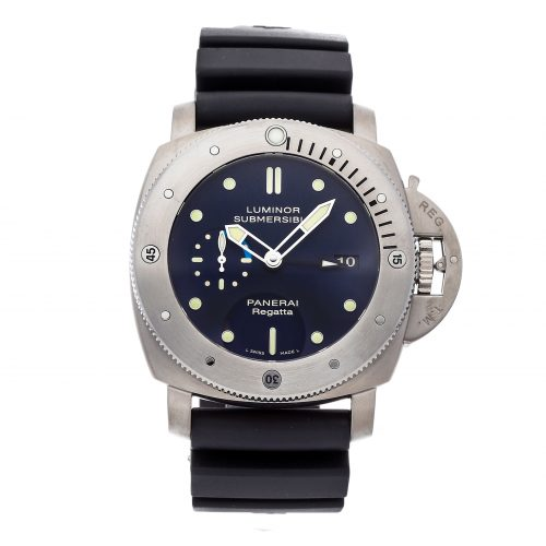 Panerai Replicas Watches Panerai Luminor Submersible 1950 Regatta 3-days Gmt Titanio Limited Edition Pam 371