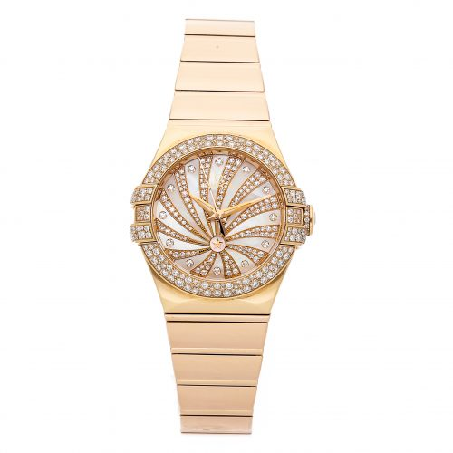 Ladies Rose Gold Omega Constellation 123.55.31.20.55.010 Fake Mechanical