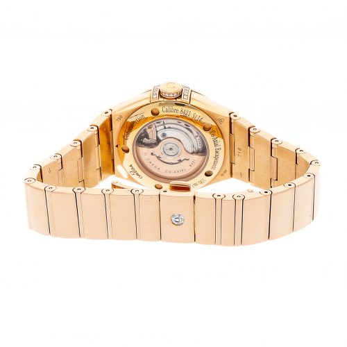 Ladies Rose Gold Omega Constellation 123.55.31.20.55.010 Fake Mechanical