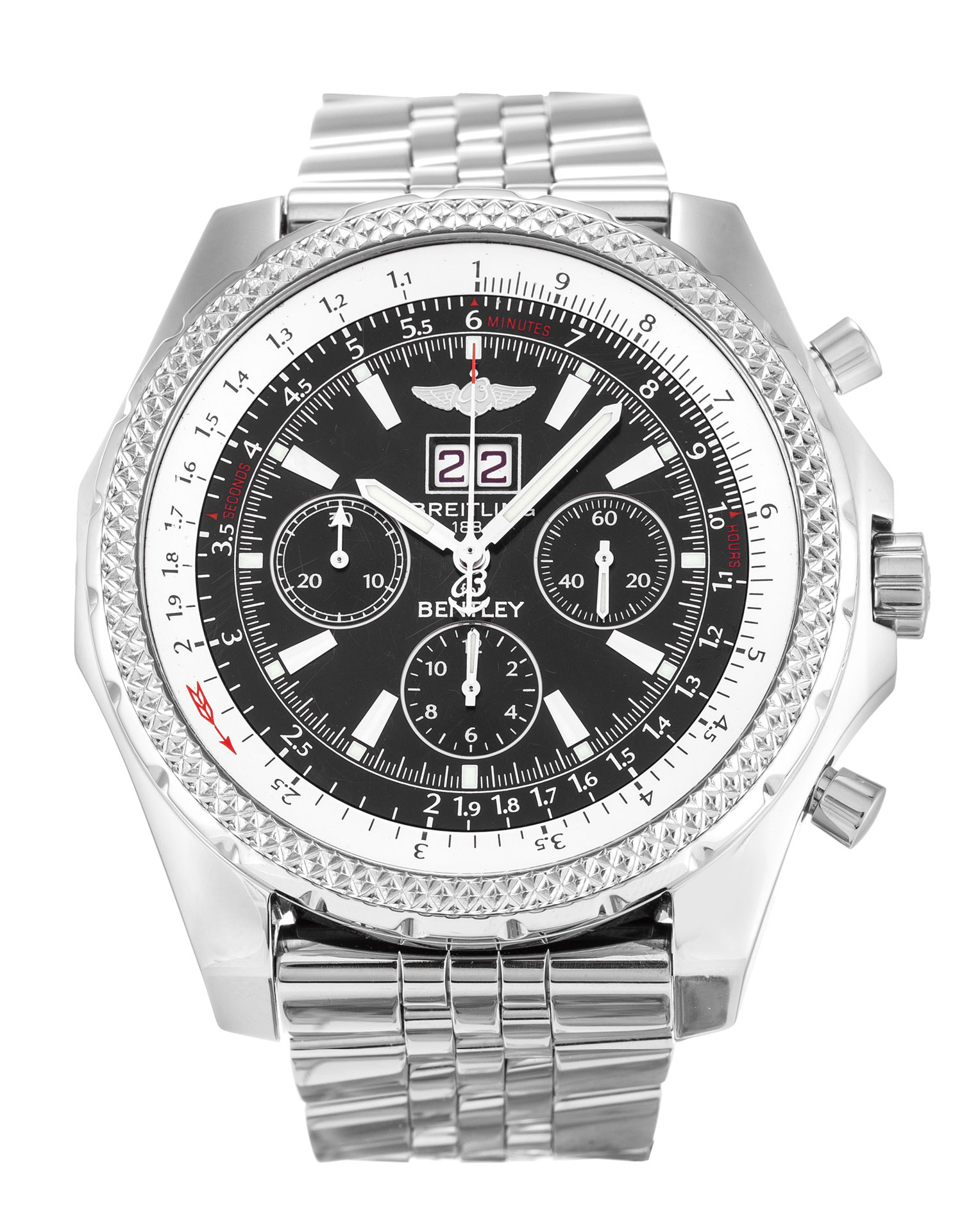 Breitling Bentley 6.75 A44362 Mens 48.8 Mm Steel Case Quartz Movement – iapac.to