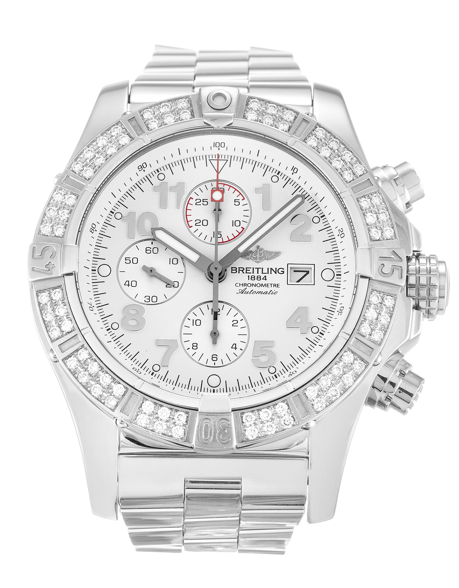 Breitling Super Avenger A13370 Mens 48.4 Mm Steel Set With Diamonds Case Quartz Movement – iapac.to