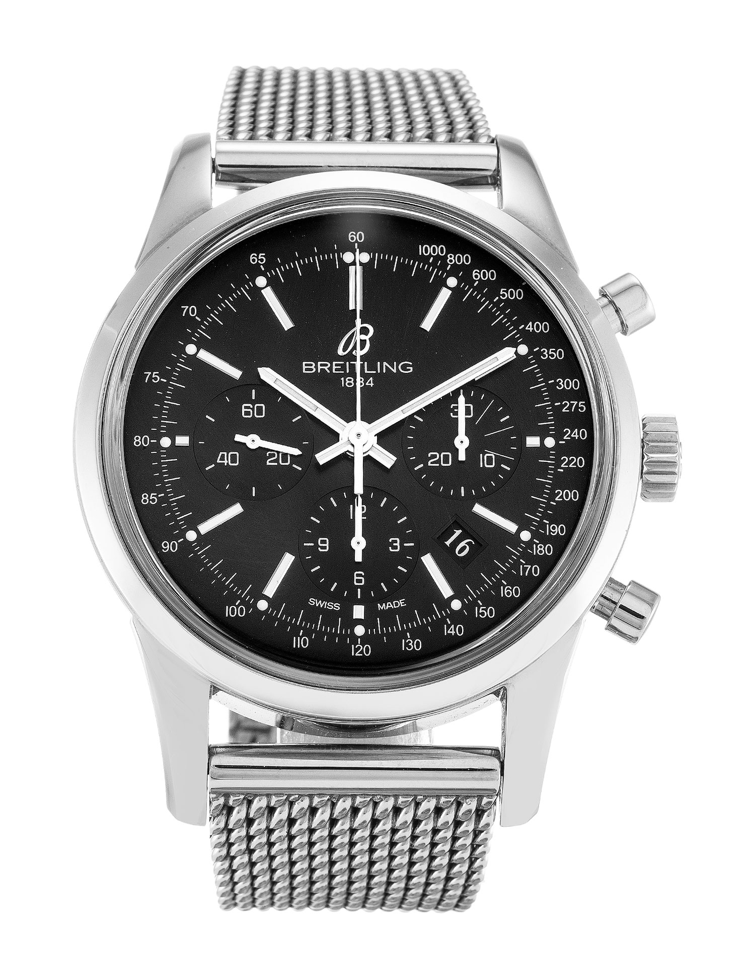 Breitling Transocean Chronograph Ab0152 Mens 43 Mm Steel Case Quartz Movement – iapac.to