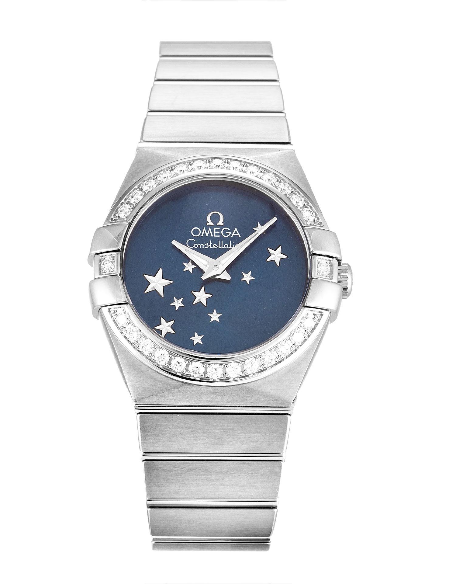 Omega Constellation Ladies 123.15.24.60.03.001 Ladies 24 Mm Steel Set With Diamonds Case Quartz Movement – iapac.to