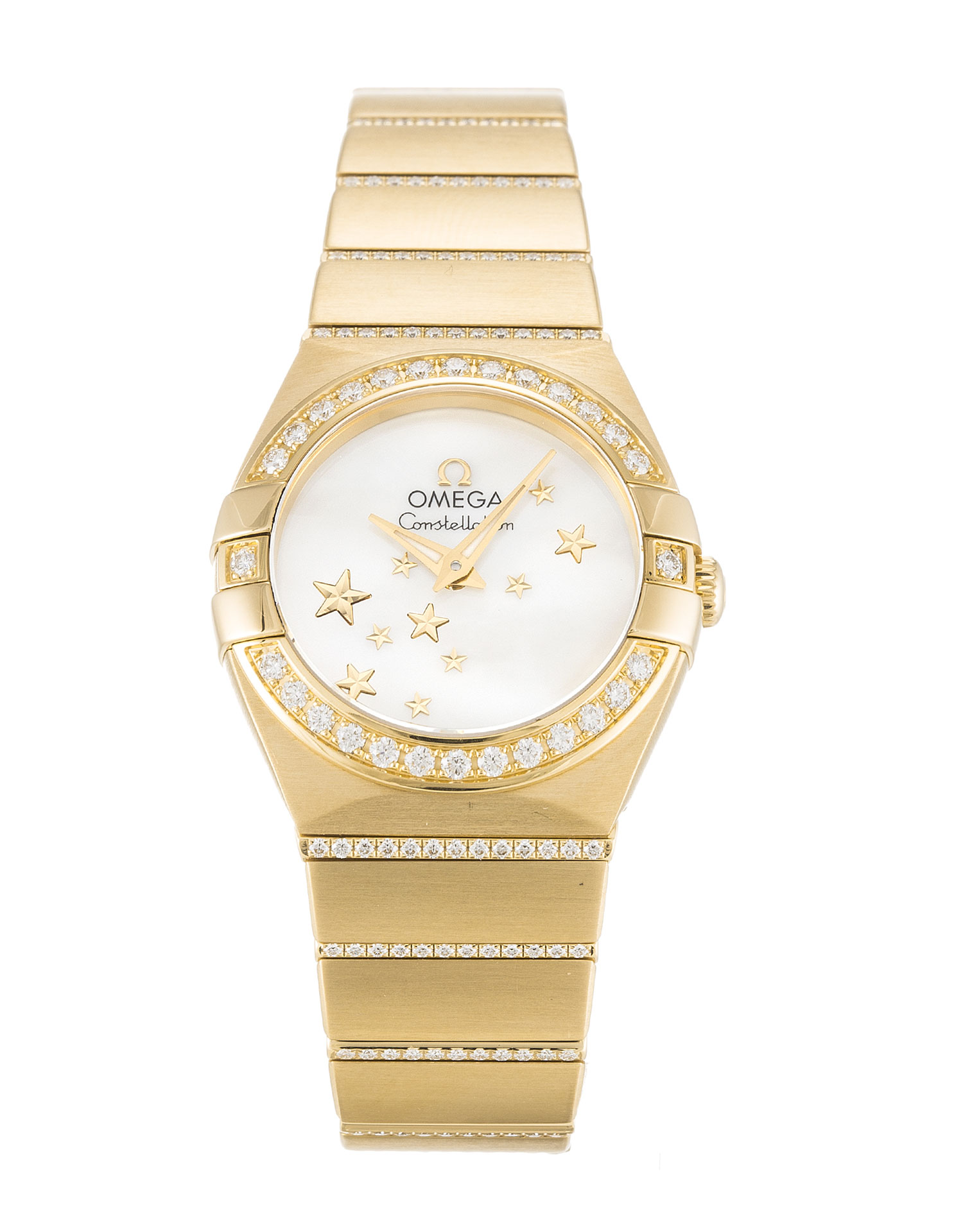 Omega Constellation 123.55.24.60.05.002 Ladies 24 Mm Yellow Gold Set With Diamonds Case Automatic Movement – iapac.to