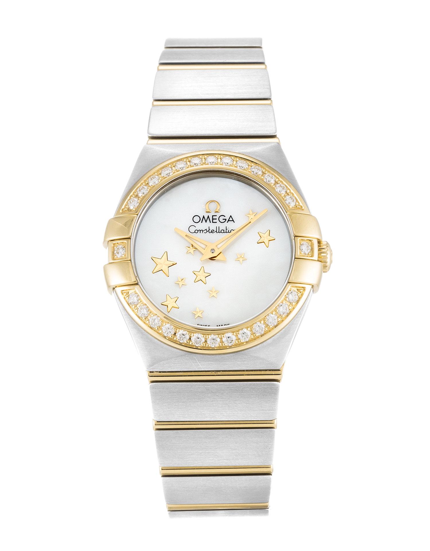 Omega Constellation Ladies 123.25.24.60.05.001 Ladies 24 Mm Steel & Yellow Gold Set With Diamonds Case Quartz Movement – iapac.to