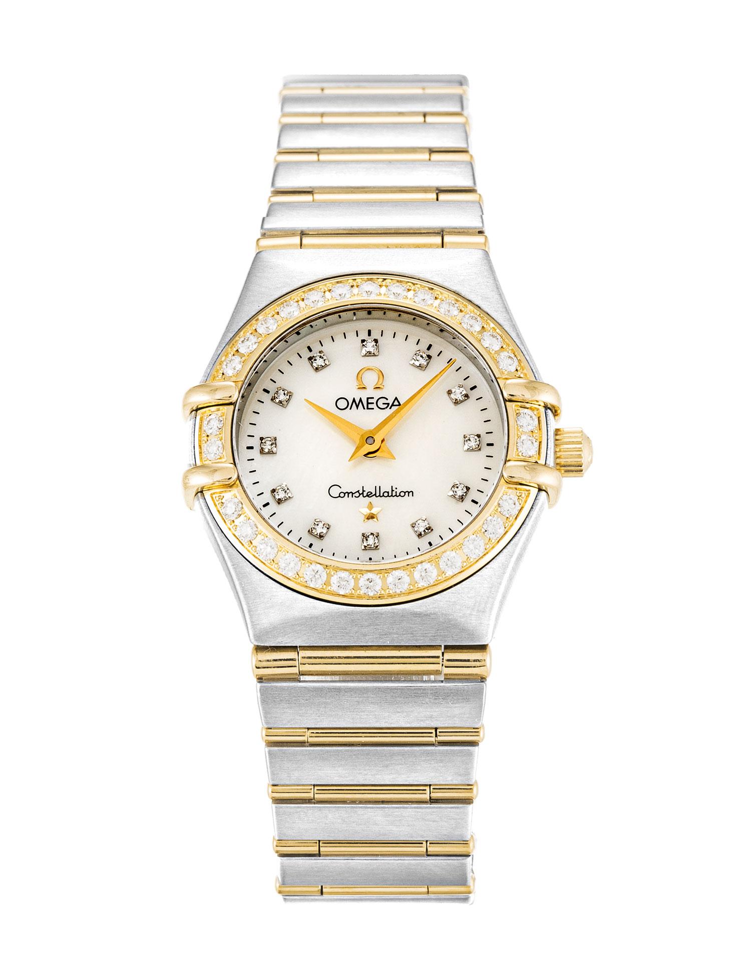 Omega Constellation Mini 1267.75.00 Ladies 22.5 Mm Steel & Yellow Gold Set With Diamonds Case Quartz Movement – iapac.to