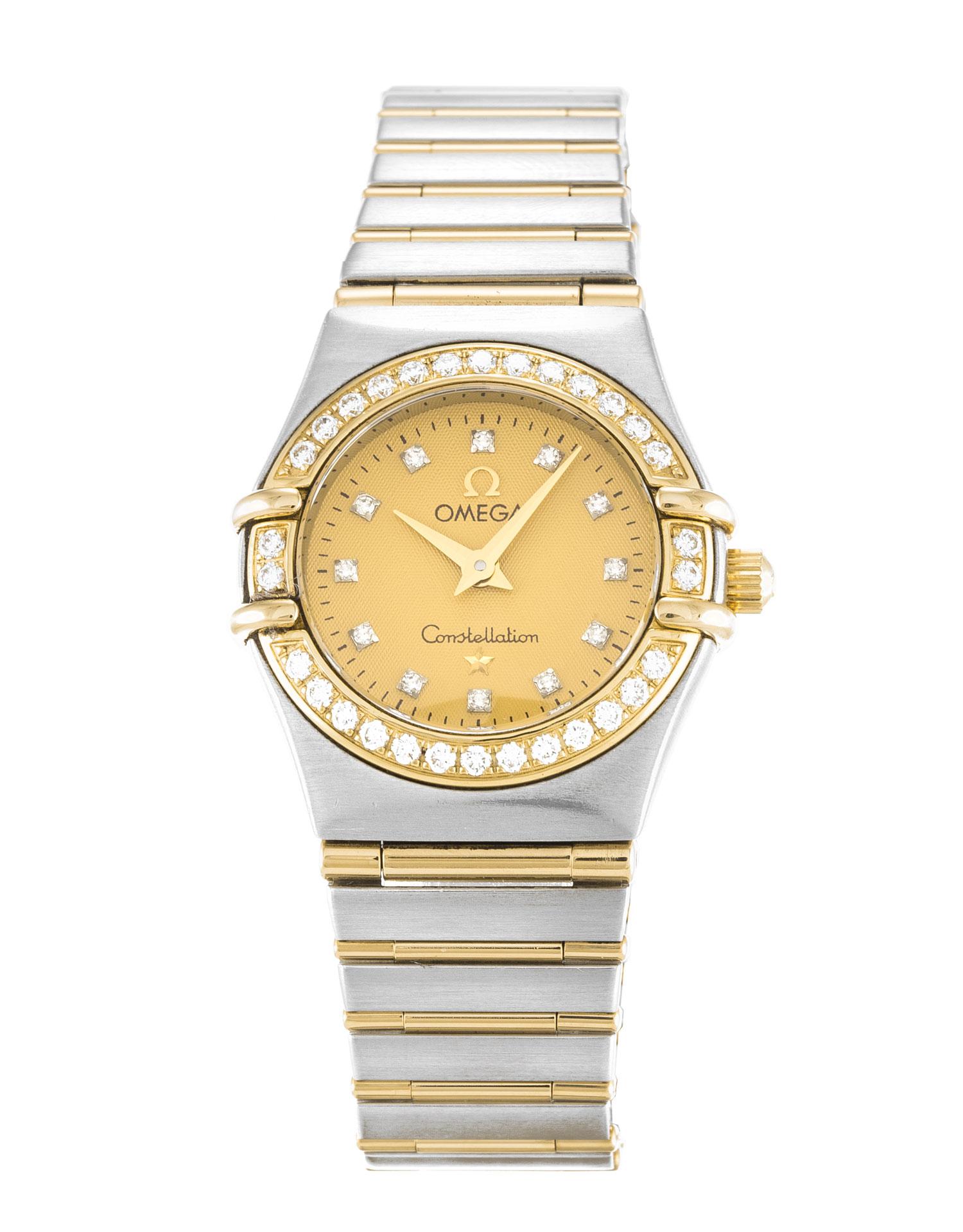 Omega Constellation Mini 1267.15.00 Ladies 22.5 Mm Steel & Yellow Gold Set With Diamonds Case Quartz Movement – iapac.to