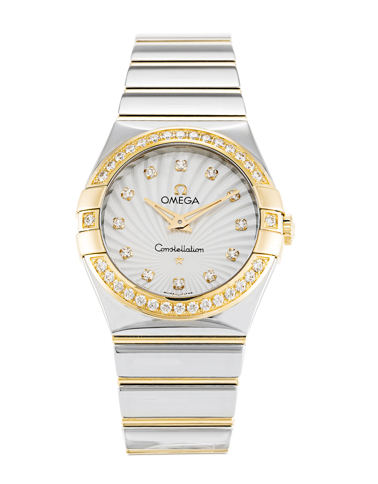 Omega Constellation Ladies 123.25.27.60.55.008 Ladies 27 Mm Steel & Yellow Gold Set With Diamonds Case Quartz Movement – iapac.to