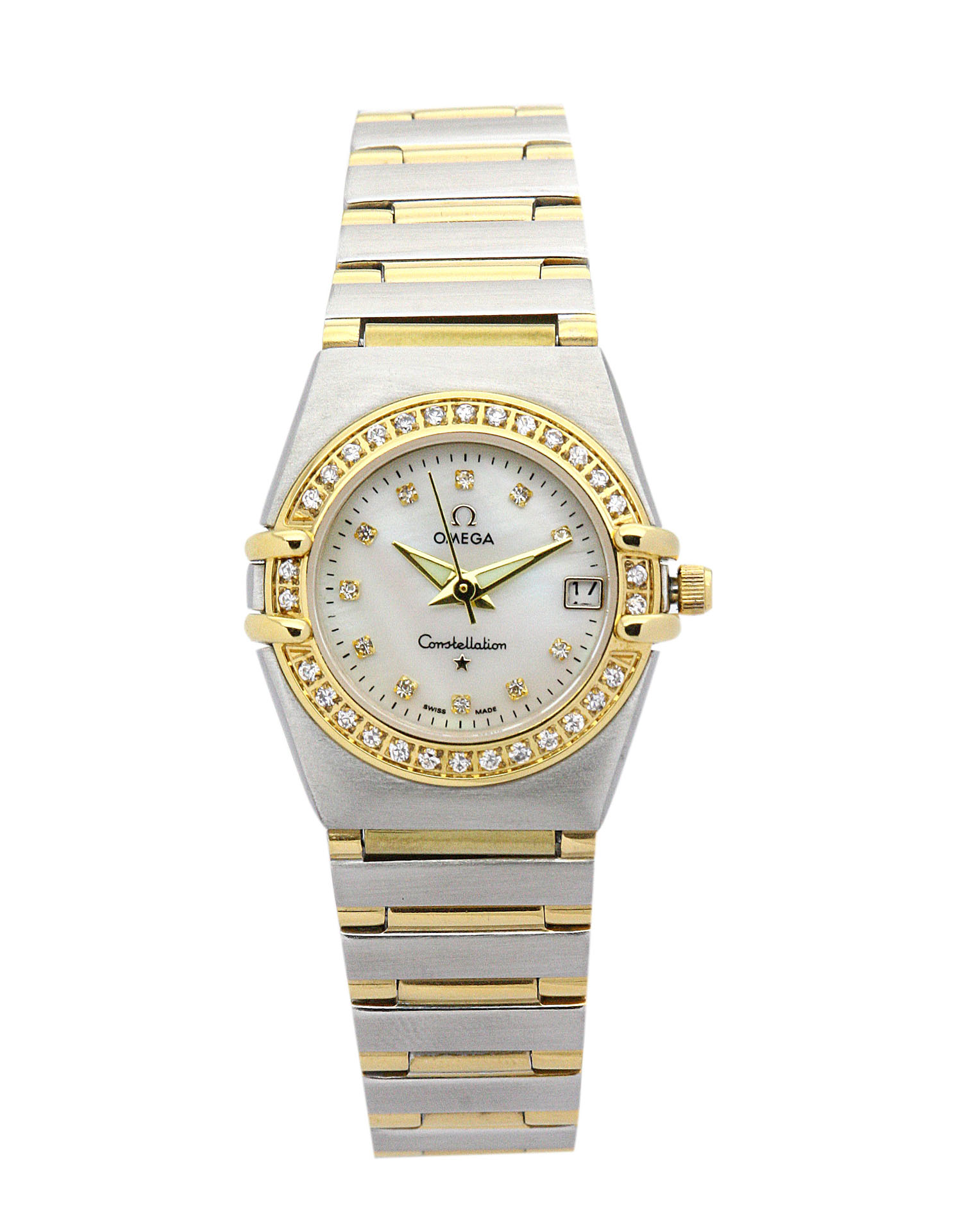 Omega My Choice Mini 1365.75.00 Ladies 22.5 Mm Steel & Yellow Gold Set With Diamonds Case Quartz Movement – iapac.to