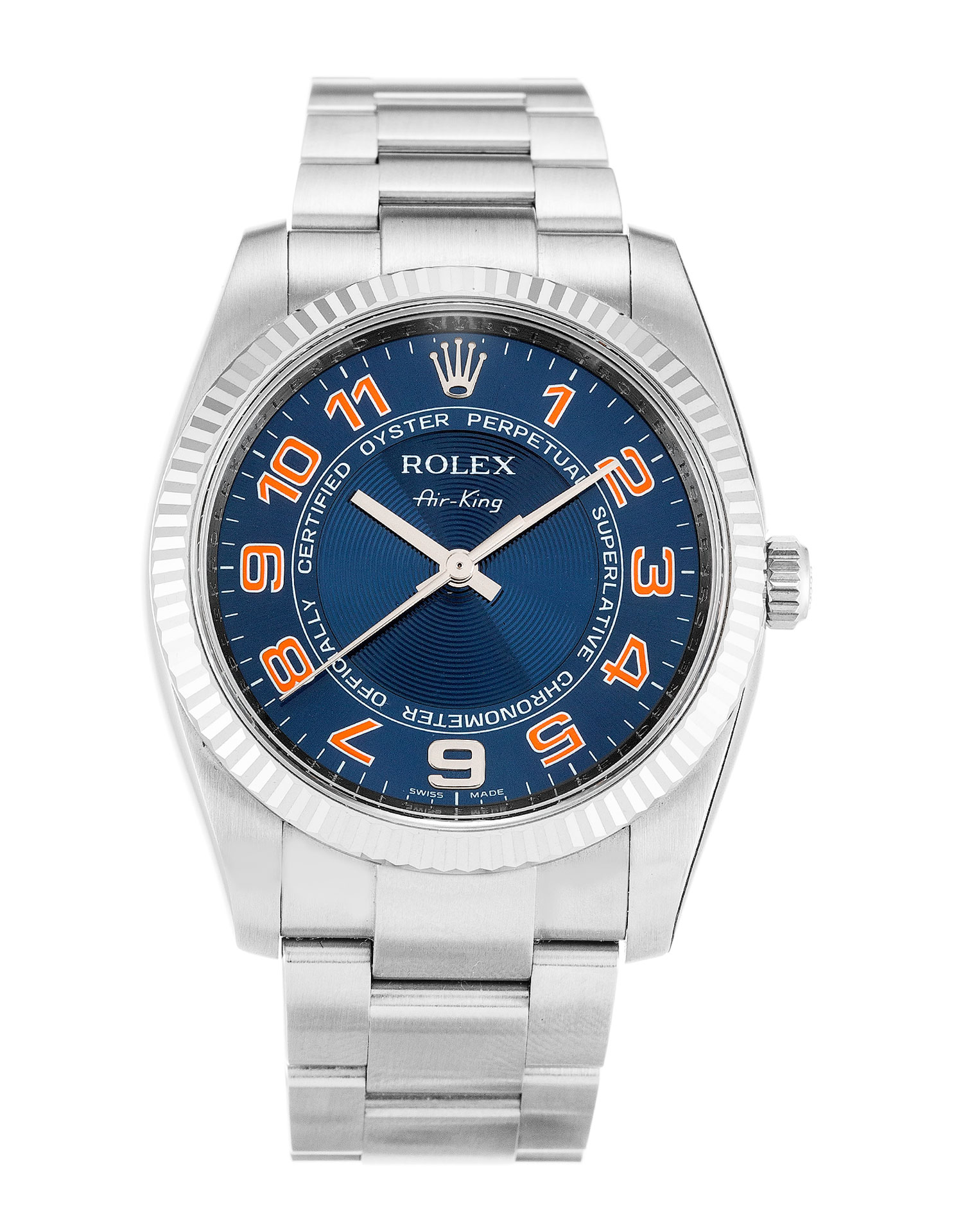 Rolex Air-king 114234 Unisex 34 Mm Steel & White Gold Case Automatic Movement – iapac.to