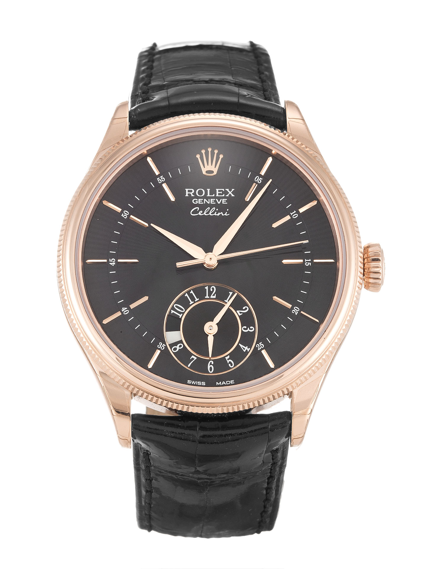 Rolex Cellini 50525 Mens 39 Mm Rose Gold Case Automatic Movement – iapac.to