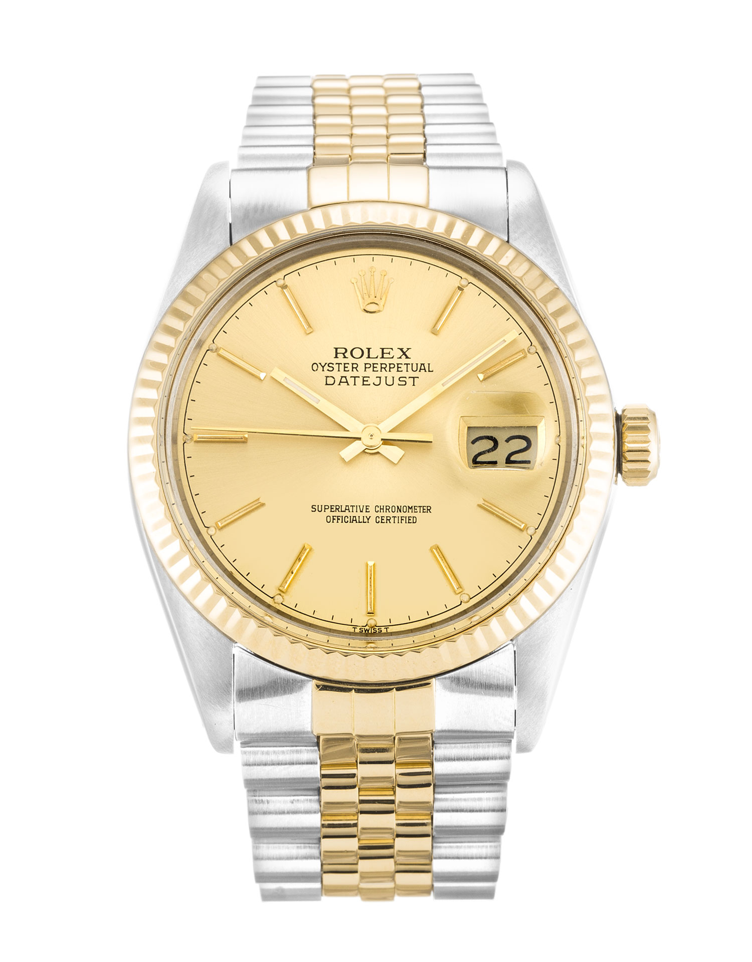 Rolex Datejust 16013 Mens 36 Mm Steel & Yellow Gold Case Automatic Movement – iapac.to