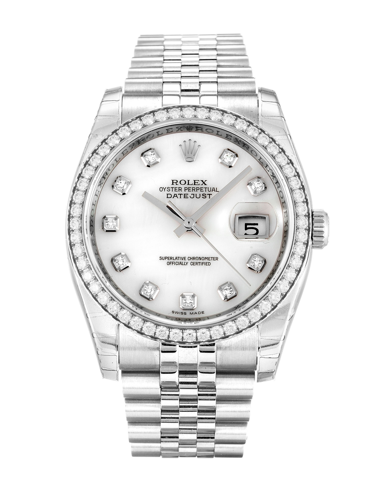 Rolex Datejust 116244 Ladies 36 Mm Steel & White Gold Set With Diamonds Case Automatic Movement – iapac.to