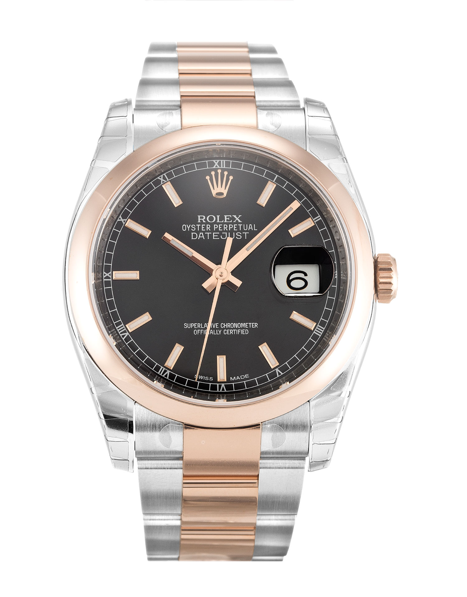 Rolex Datejust 116201 Mens 36 Mm Steel & Rose Gold Case Automatic Movement – iapac.to