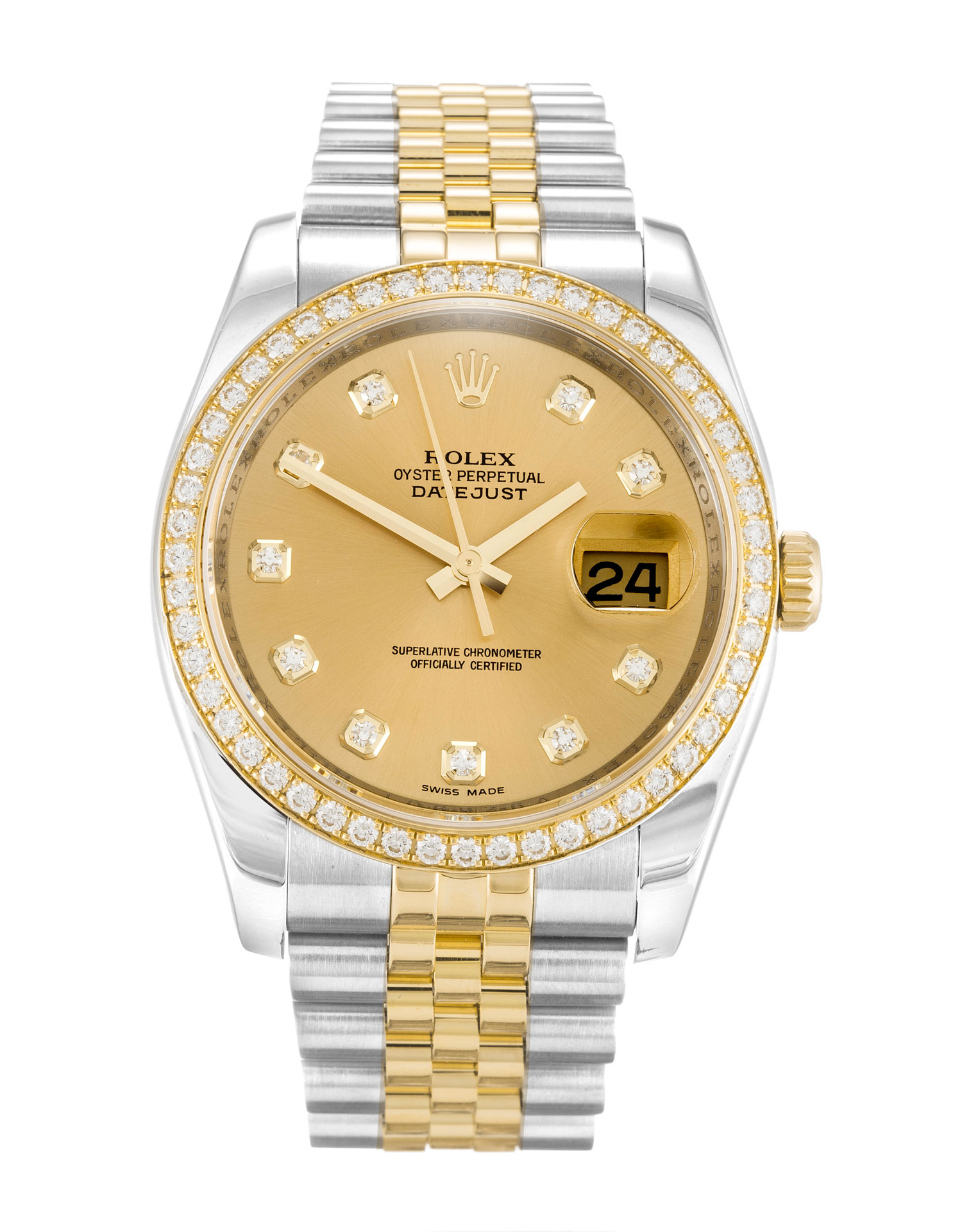 Rolex Datejust 116243 Mens 36 Mm Steel & Yellow Gold Set With Diamonds Case Automatic Movement – iapac.to