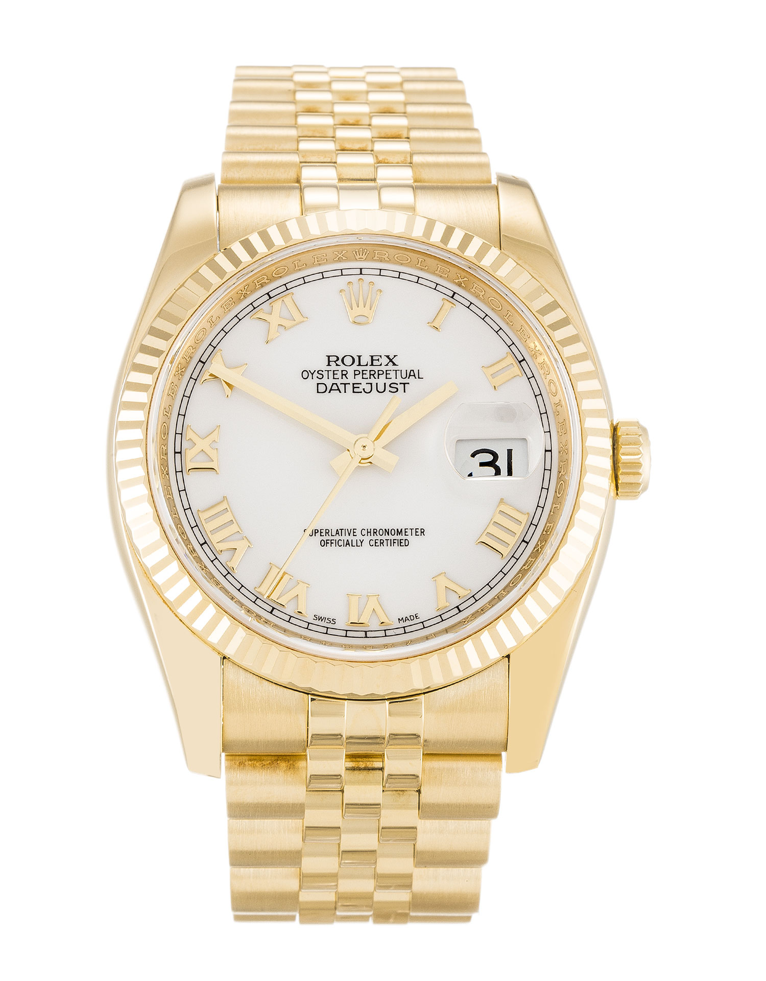 Rolex Datejust 116238 Mens 36 Mm Yellow Gold Case Automatic Movement – iapac.to