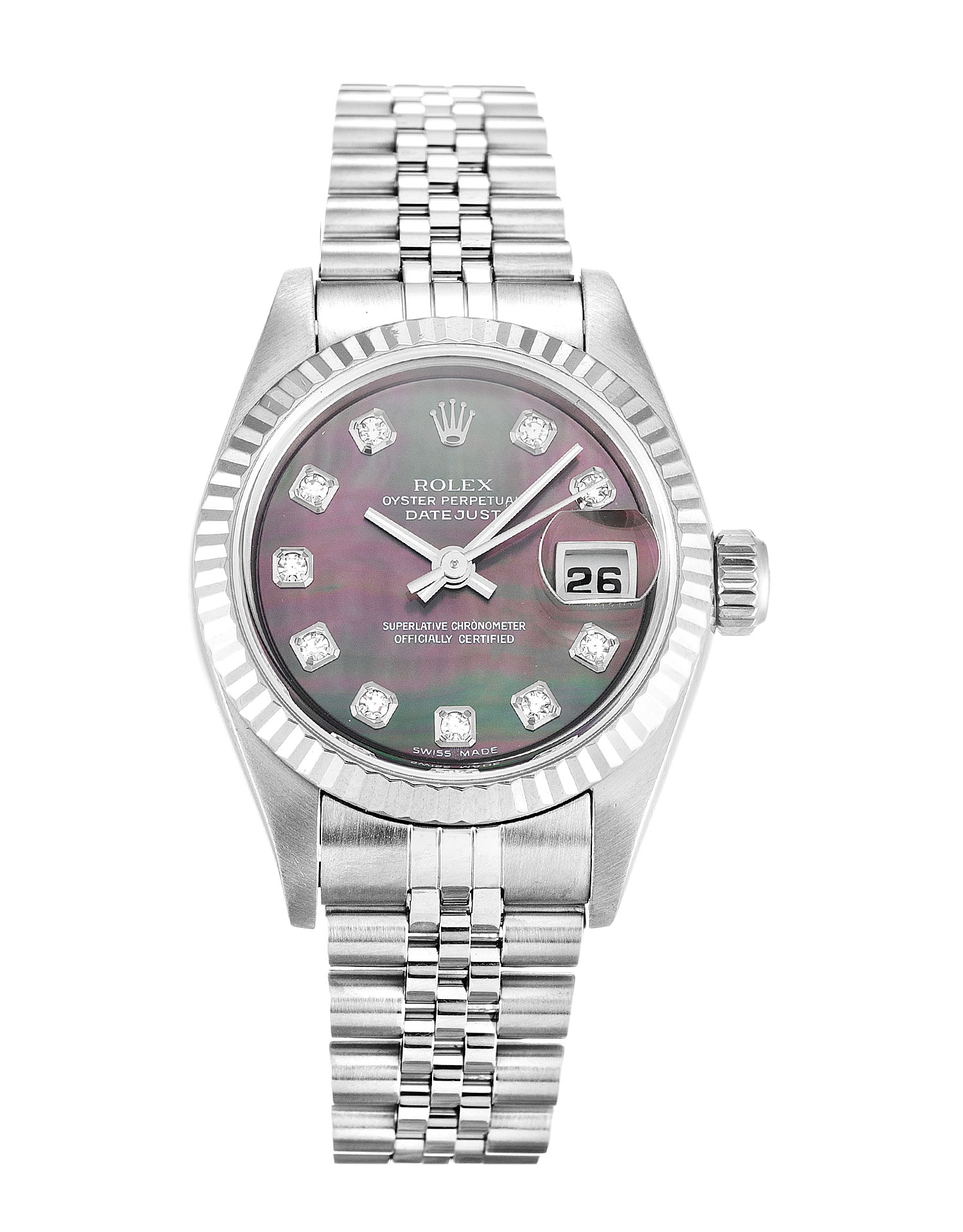 Rolex Datejust Lady 79174 Ladies 26 Mm Steel & White Gold Case Automatic Movement – iapac.to