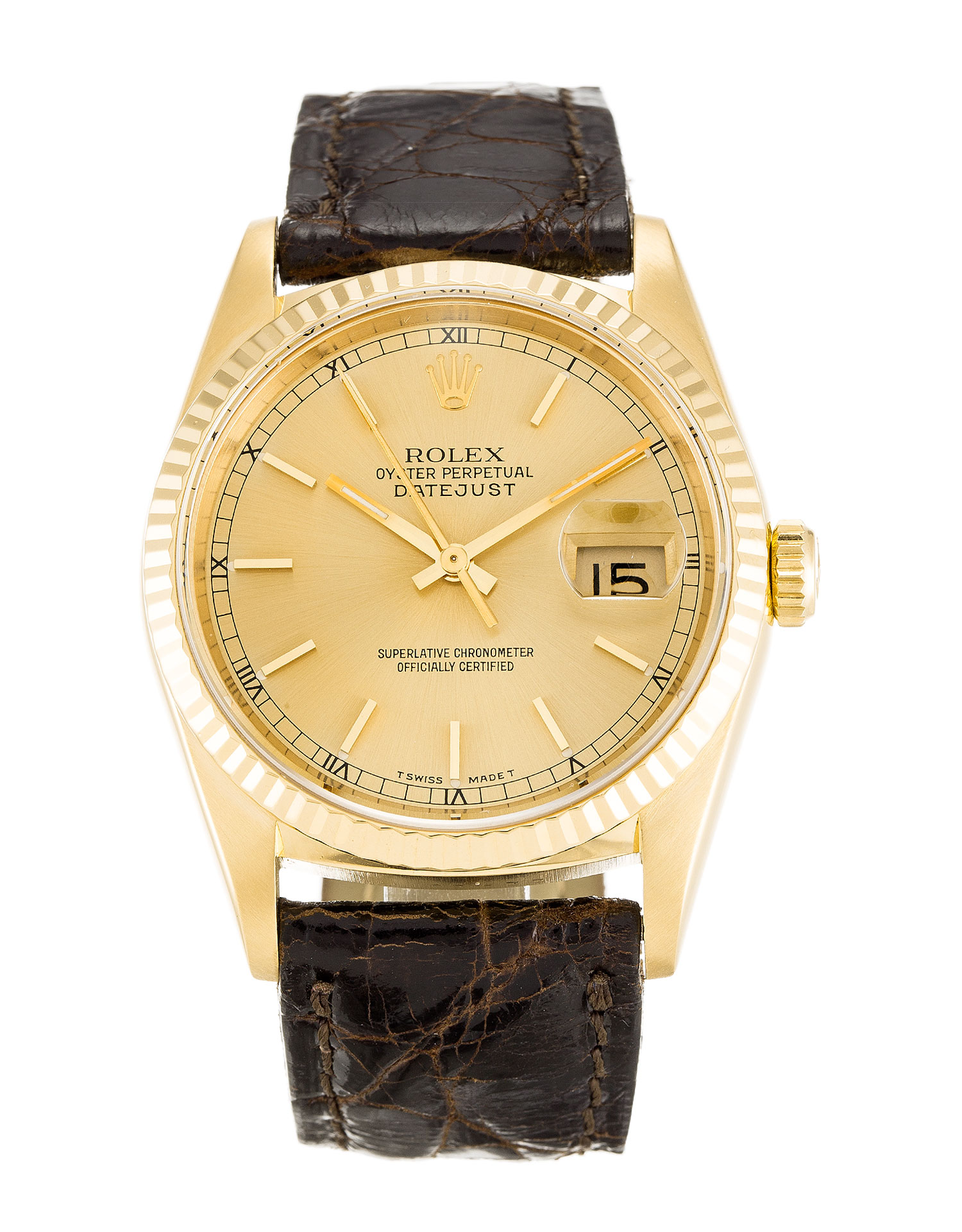 Rolex Datejust 16238 Mens 36 Mm Yellow Gold Case Automatic Movement – iapac.to