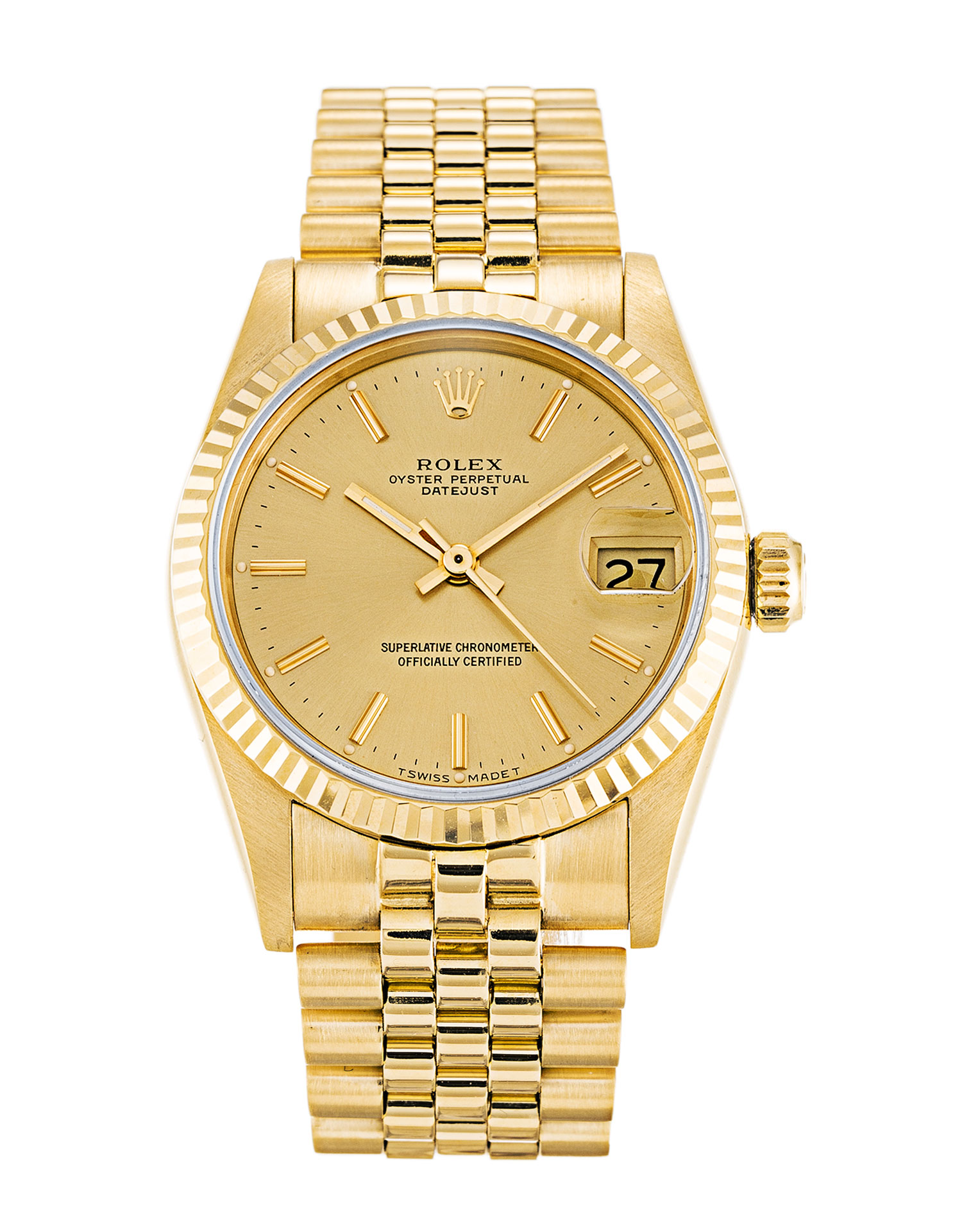 Rolex Mid-size Datejust 68278 Unisex 31 Mm Yellow Gold Case Automatic Movement – iapac.to