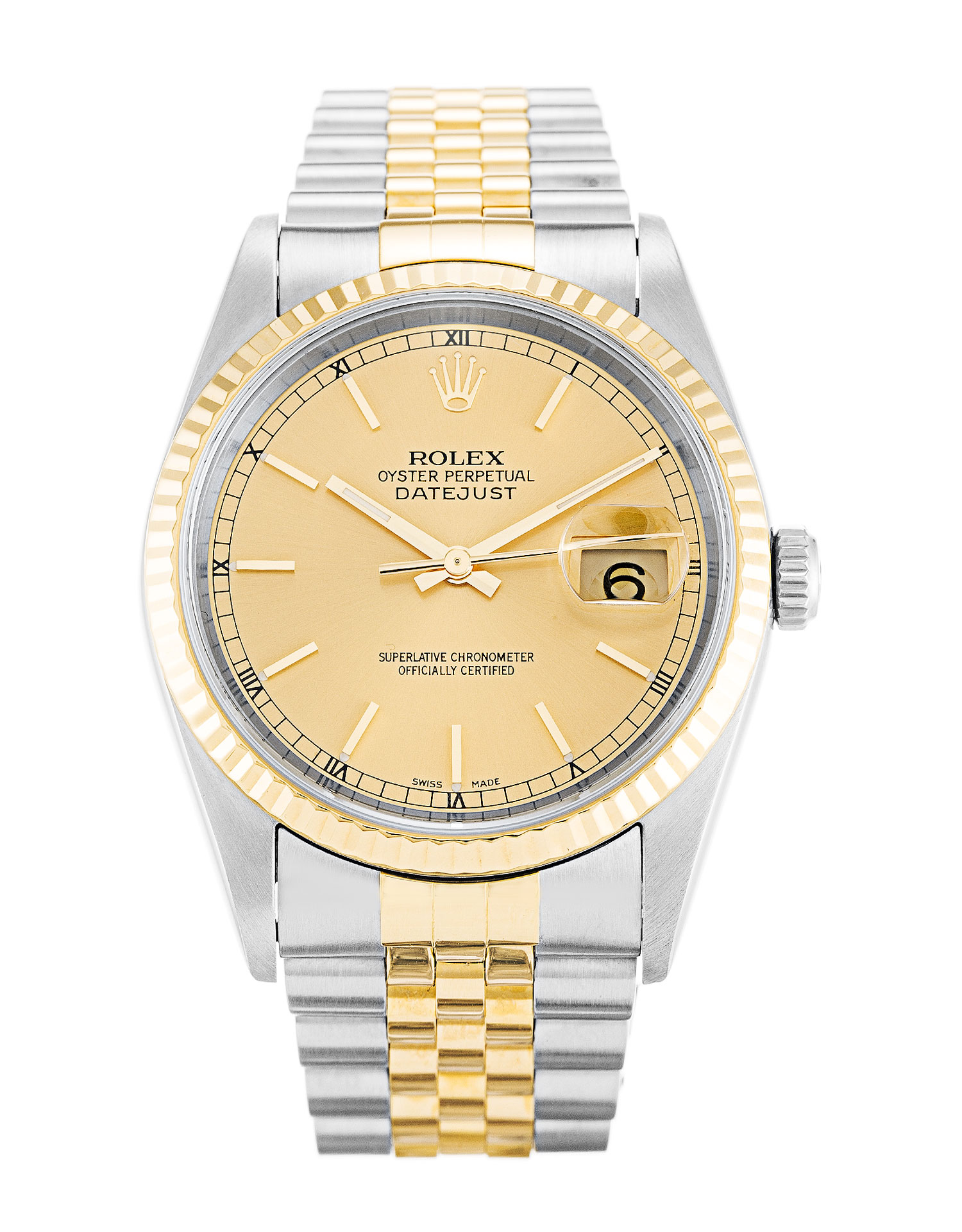 Rolex Datejust 16233 Mens 36 Mm Steel & Yellow Gold Case Automatic Movement – iapac.to