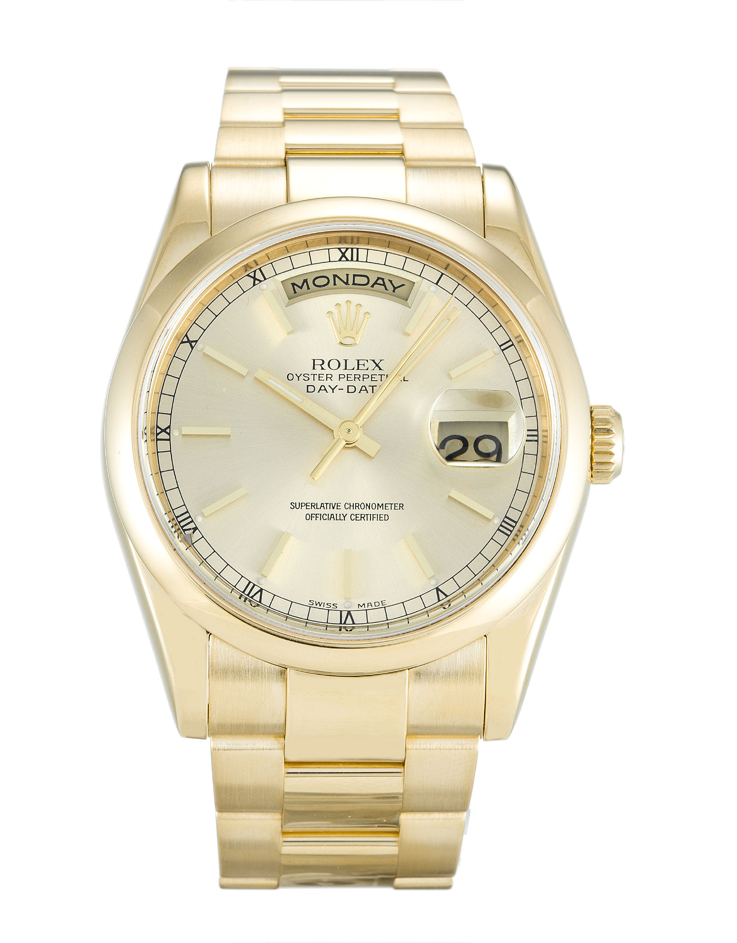 Rolex Day-date 118208 Mens 36 Mm Yellow Gold Case Automatic Movement – iapac.to