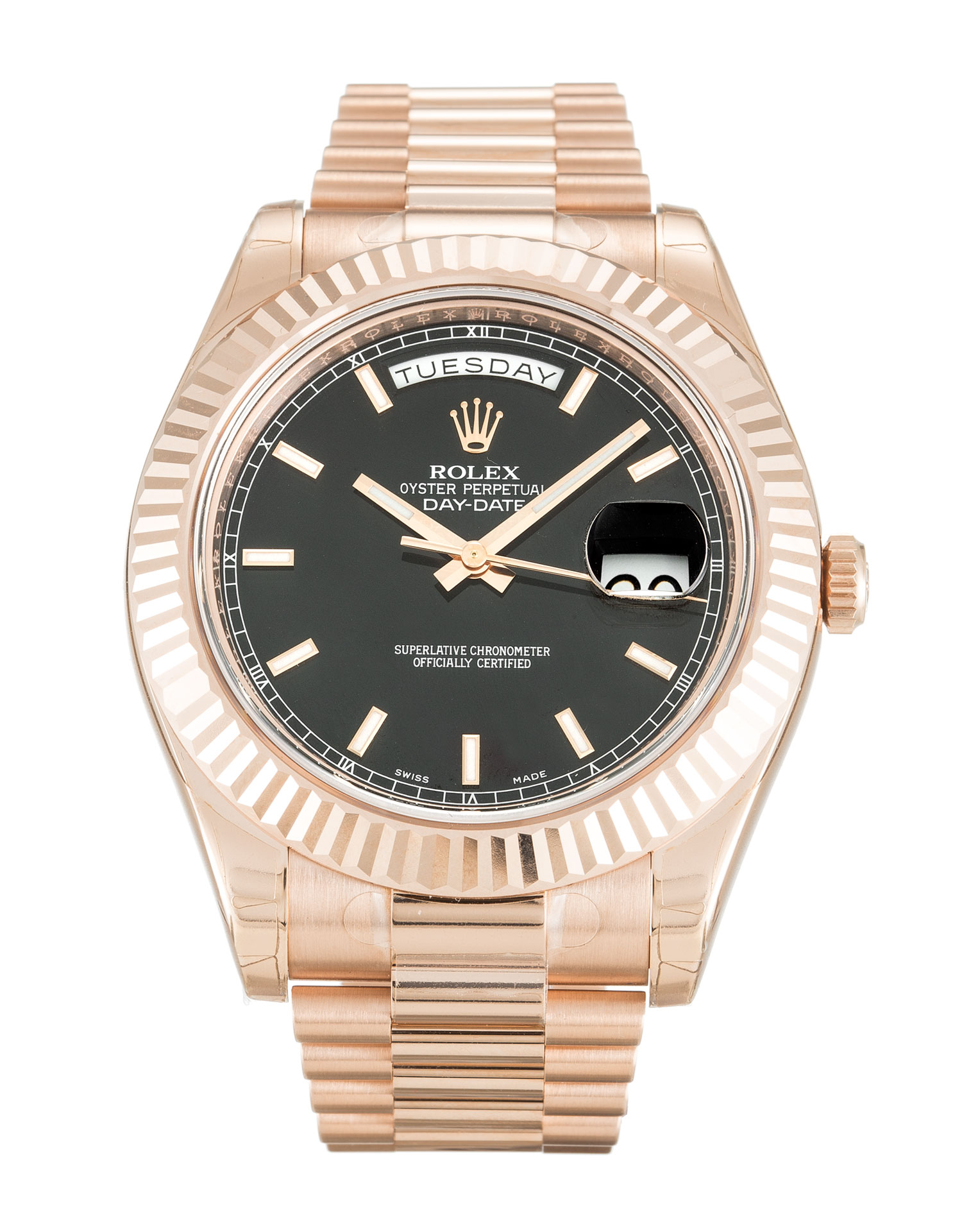 Rolex Day-date Ii 218235 Mens 41 Mm Rose Gold Case Automatic Movement – iapac.to