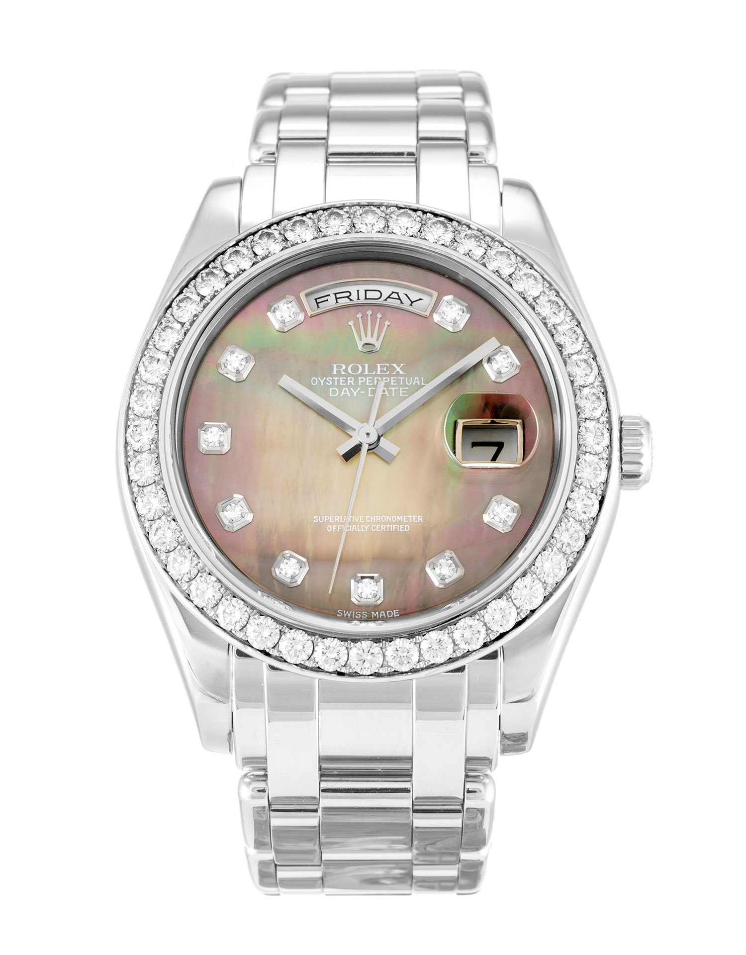 Rolex Day-date 18946 Mens 36 Mm Platinum Set With Diamonds Case Automatic Movement – iapac.to