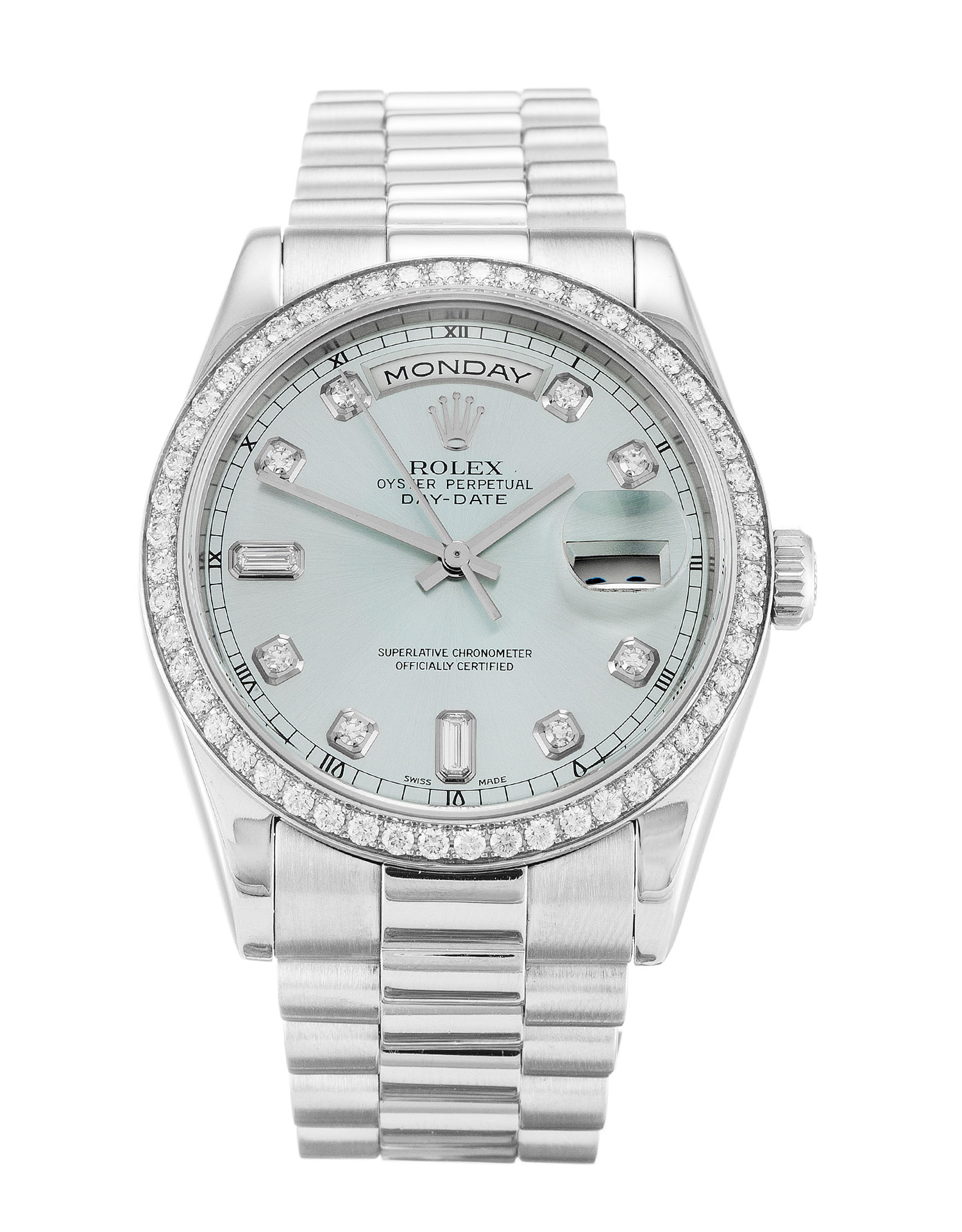 Rolex Day-date 118346 Mens 36 Mm Platinum Set With Diamonds Case Automatic Movement – iapac.to