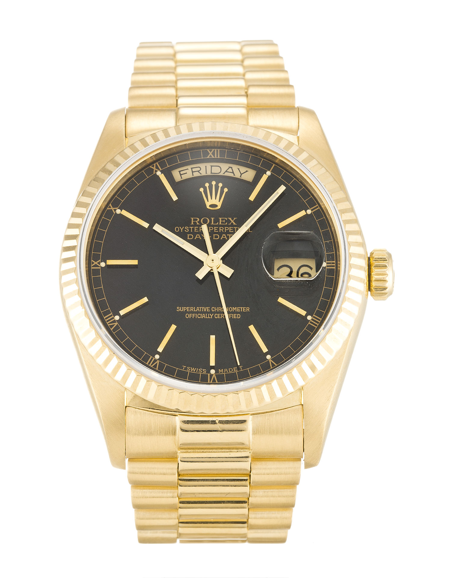Rolex Day-date 18038 Mens 36 Mm Yellow Gold Case Automatic Movement – iapac.to