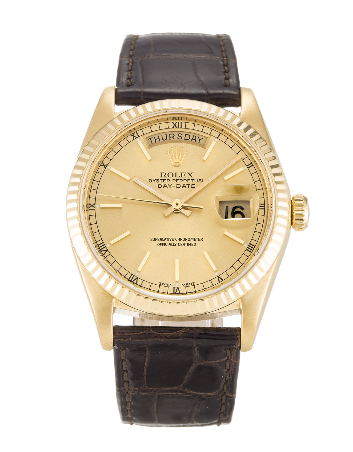 Rolex Day-date 18038 Unisex 36 Mm Yellow Gold Case Automatic Movement – iapac.to
