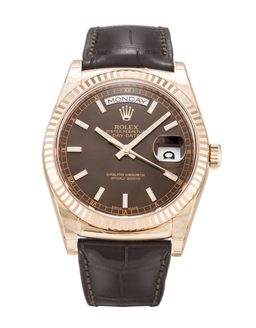 Rolex Day-date 118135 Mens 36 Mm Rose Gold Case Automatic Movement – iapac.to