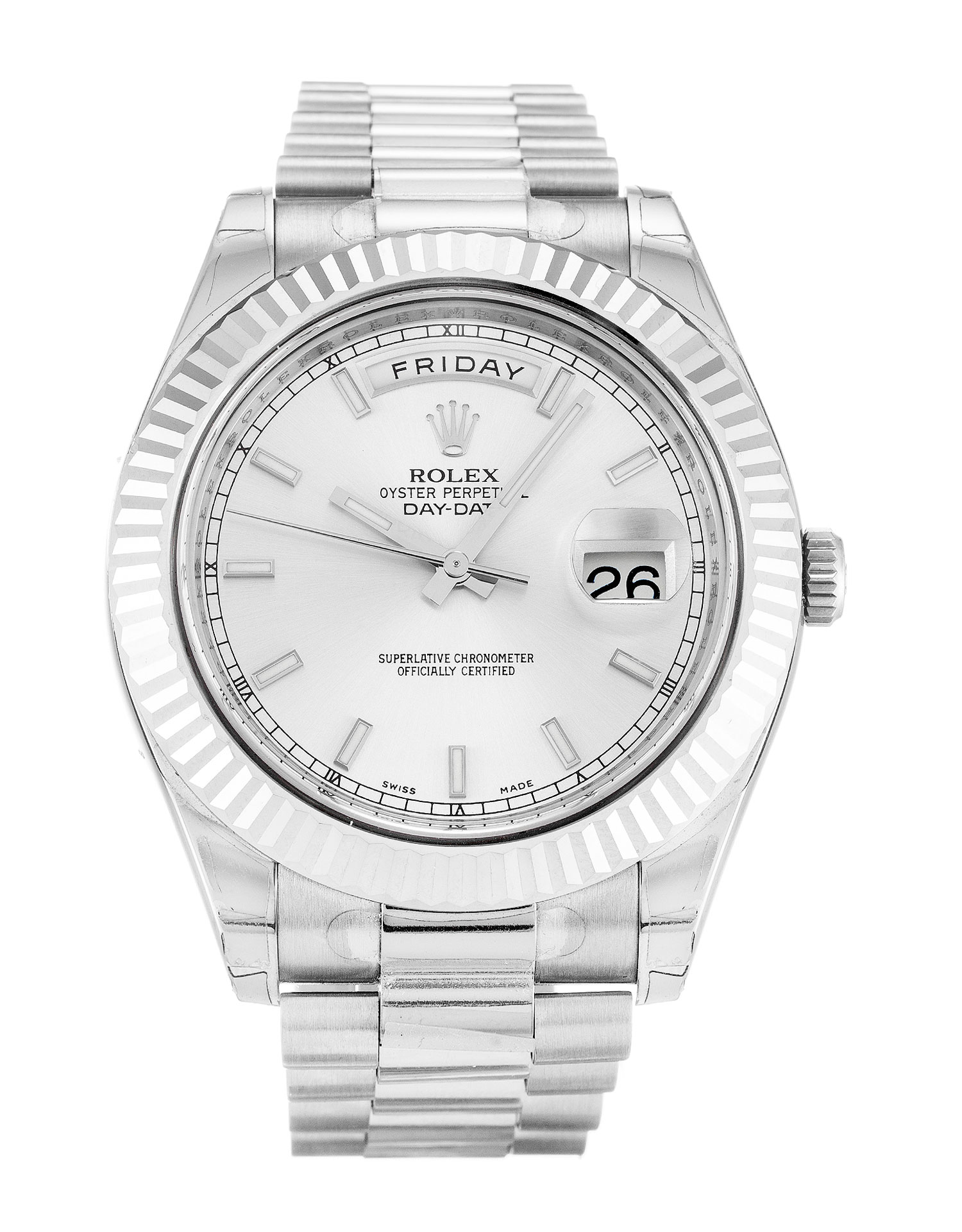 Rolex Day-date Ii 218239 Mens 41 Mm White Gold Case Automatic Movement – iapac.to