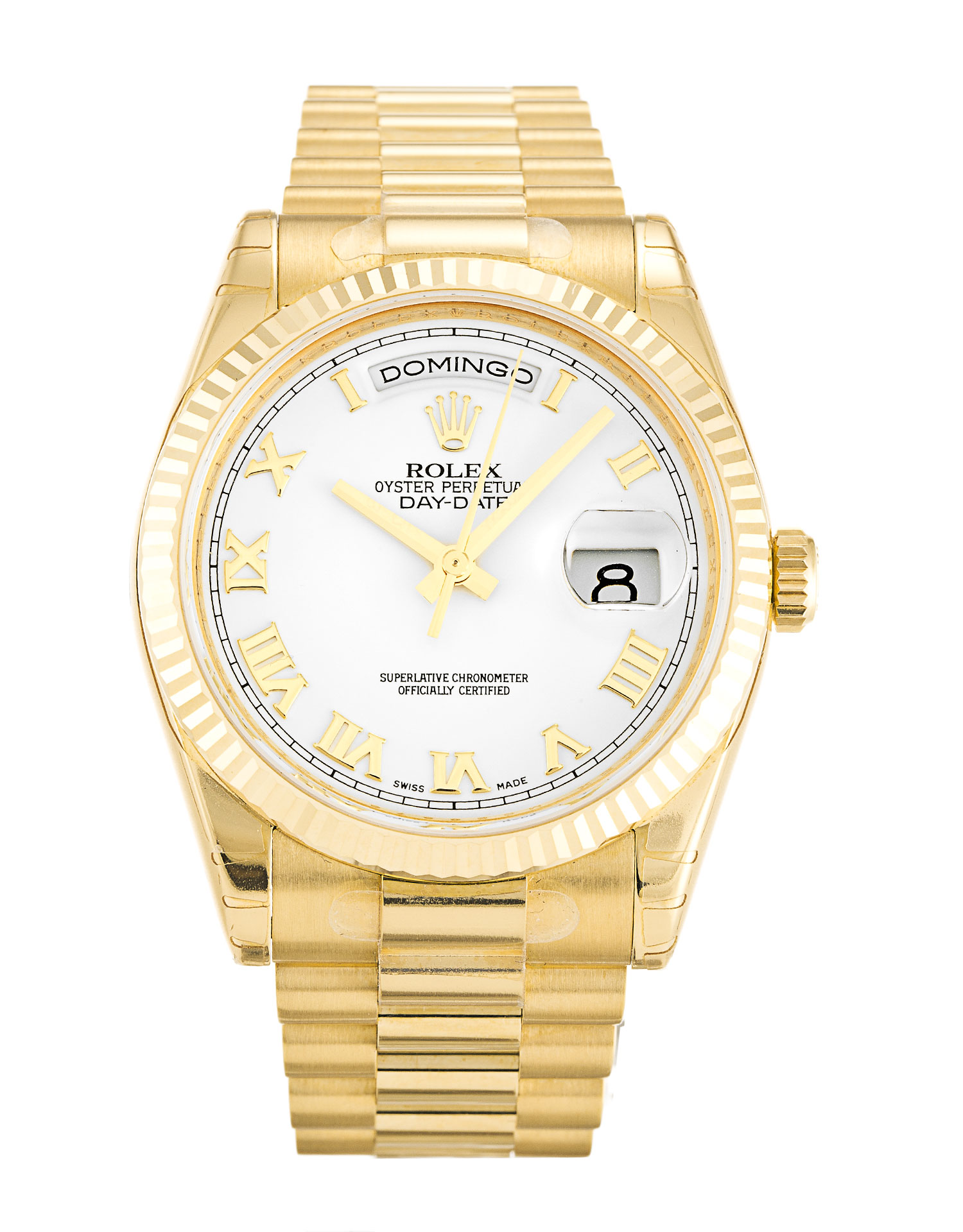 Rolex Day-date 118238 Mens 36 Mm Yellow Gold Case Automatic Movement – iapac.to
