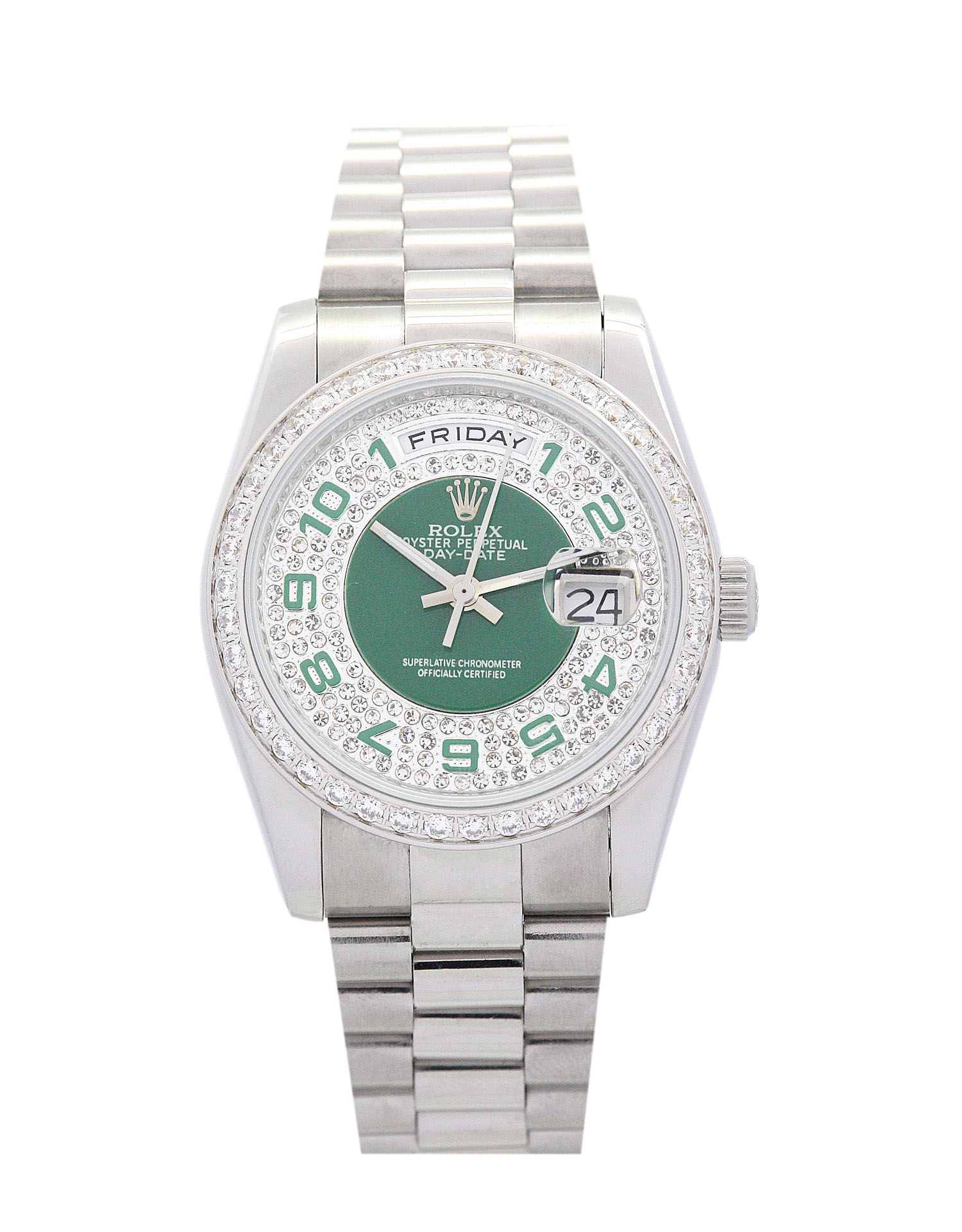 Rolex Day-date 118346 Lady 36 Mm Steel With Diamonds Case Automatic Movement – iapac.to